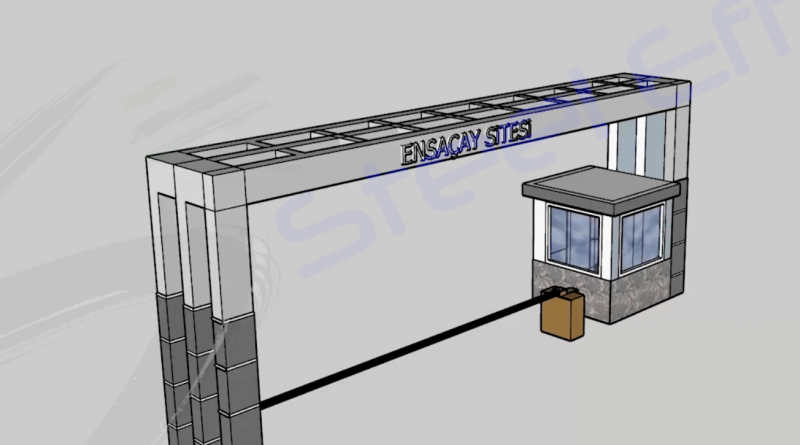 Apartment Entry Tag and Security Container 3D Animation   Ankara Project
