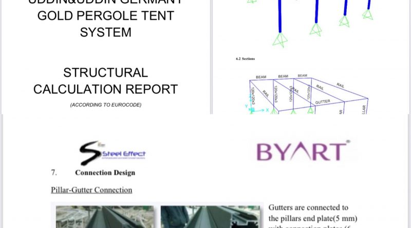 Gold Type Tent Project by Byart Group Awning Systems Company- Frankfurt / Deutschland